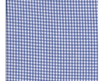 """""""5 meters fabric gingham"""", blue sky, 4 x 5 mm 100% cotton lot123"""