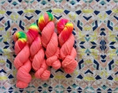 Hand dyed sock yarn. NEW colour Ooo lala.  High-twist BFL and nylon 100g. BFL is a British breed.