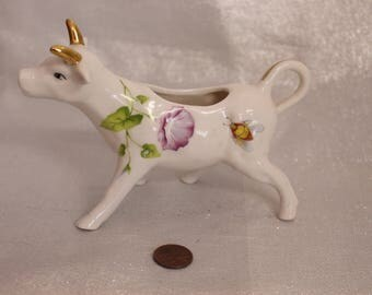 Gracie China by Coastline Imports Cow Creamer, Stamped, Cow, Creamer, Vintage, 1960's Vintage, Collector