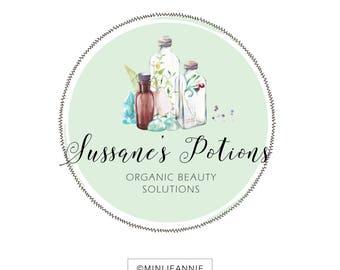 Organic logo-Beauty product logo-Organic product logo-Nature Logo-Branding package-Etsy Logo-Natural products Logo