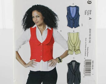 Vest Collection Sewing Pattern, Uncut Sewing Pattern, McCalls M619, Size 6-14