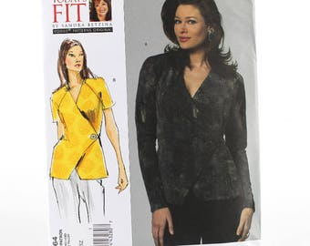 Today's Fit Vogue Close-Fitting Wrap Top Sewing Pattern, Uncut Sewing Pattern, Vogue V1164, Size All (A-J)