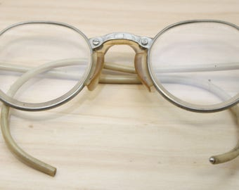 Vintage Cesco 22 Safety Glasses Steampunk Silver Tone *SHIPS FREE*
