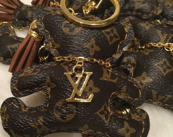 Louis vuitton teddy bear,scottie dog and kitten Keychain/ purse accessory