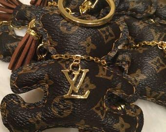 Louis vuitton teddy bear,scottie dog and kitten Keychain/ purse accessory