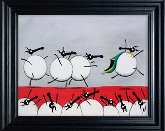 """Ewe-Sain Bolt"" (Ready Framed) Original"