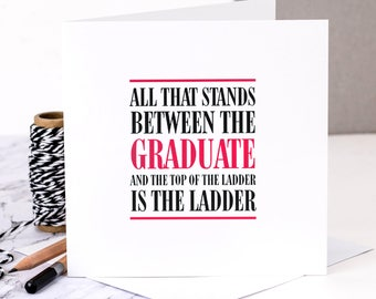 Graduation Card; Card For Graduate; Card For College Leaver; Leaving University Card; Graduating University; GC301