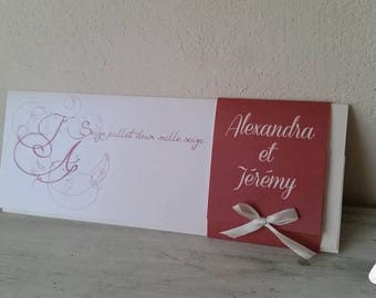 Romantic Chic wedding invitation