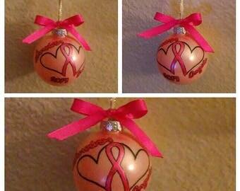 Personalized cancer survivor ornament