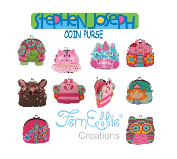 Stephen Joseph Signature Coin Purse, Great Christmas Stocking Stuffers.