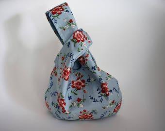 sac Japonnais style sac noeud en tissus \ sac à tricot reversible