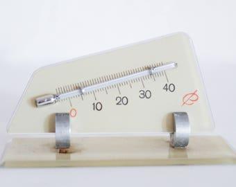 Vintage Thermometer Segel Glas Deko 60er Wohndeko Maritim Sailor