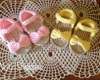 Crochet Baby Sandals~Baby Crochet Sandals~Crochet Baby Shoes~Baby Boy Shoes ~ Crocheted Sandals~Baby Girl Shoes ~ Baby Sandals