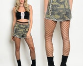 Camo shorts for women, camouflage shorts, sweat pant shorts, camo clothing for women, summer shorts, womens camo clothing, camo fashion sale
