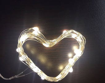 Party/Bulk Pack! 1 Meter/10 led Micro LED Fairy string light 1M/10 lights waterproof. Silver/Copper wire/ white light, warm white