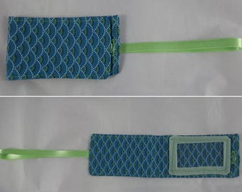 Etiquette07 - Blue teal and green tag for luggage
