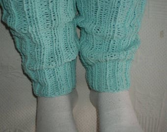 Guetres001 - Spats adult / teen turquoise blue color