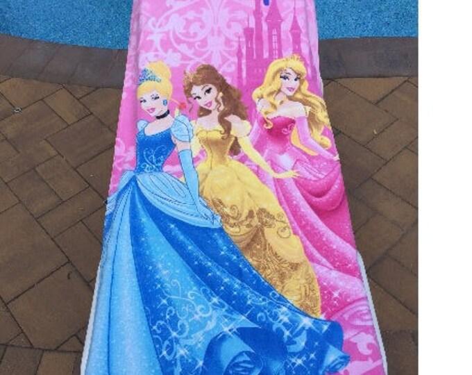 Disney Princess Cinderella Belle Aurora Beach Towel, Pink - Personalized