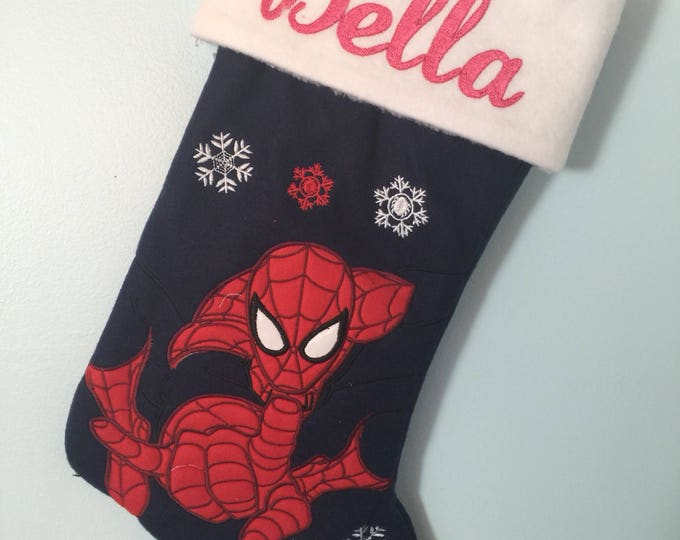 Spider-man Spiderman Christmas Stocking 18 inch - Personalized