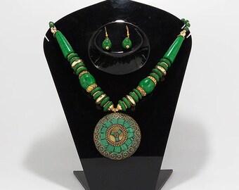 Elegantly hand crafted antique Black Oxidized finish designer Necklace