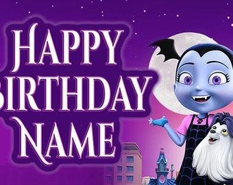 Vampirina Custom Birthday Banner