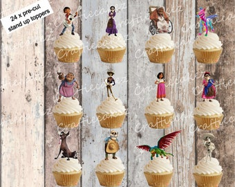 24 x Edible Pre cut Coco Stand Up Cupcake Toppers