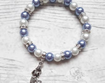 mermaid bracelet, fairytale jewellery, fantasy jewelry, ballet present, gift for girls, friendship bracelet,  charm beaded bracelet