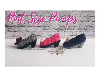Pint Size Pumps / Baby High Heels - Baby Booties - PDF CROCHET PATTERN
