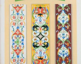 Owen Jones - The Grammar of Ornament - Stunning 1800s Lithograph - Italian Art (P88)