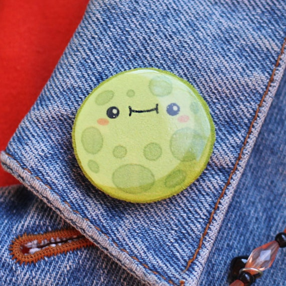 Glow in the Dark Moon Pin