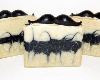 Bay Rum Soap, Klondike, Vegan Soap, Natural Soap, Mustache Soap, Handmade Soap, Alaska Handmade Soap, Man Gift, Black Soap, Wedding Favor