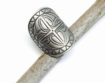Tribal, ethnic, bohemian, vintage style 925 sterling silver ring. Size -6,7,8,9