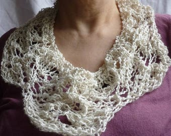 Summer neck lace silk and Merino knit
