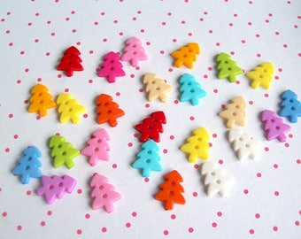 buttons tree pack 20 mix colour plastic buttons