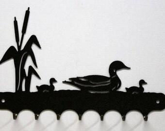 Hangs 26 cm pattern metal keys: duck and ducklings
