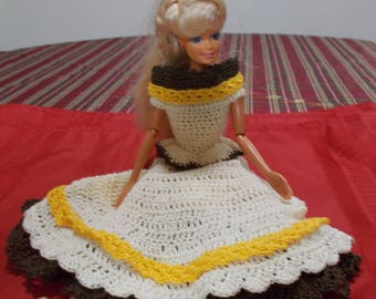 Crochet Fashion Doll Barbie Outfit - MISS PARTY GIRL-Doll included