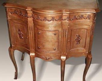 Baroque sideboard antique style Dresser strike gold plated MoGl0369