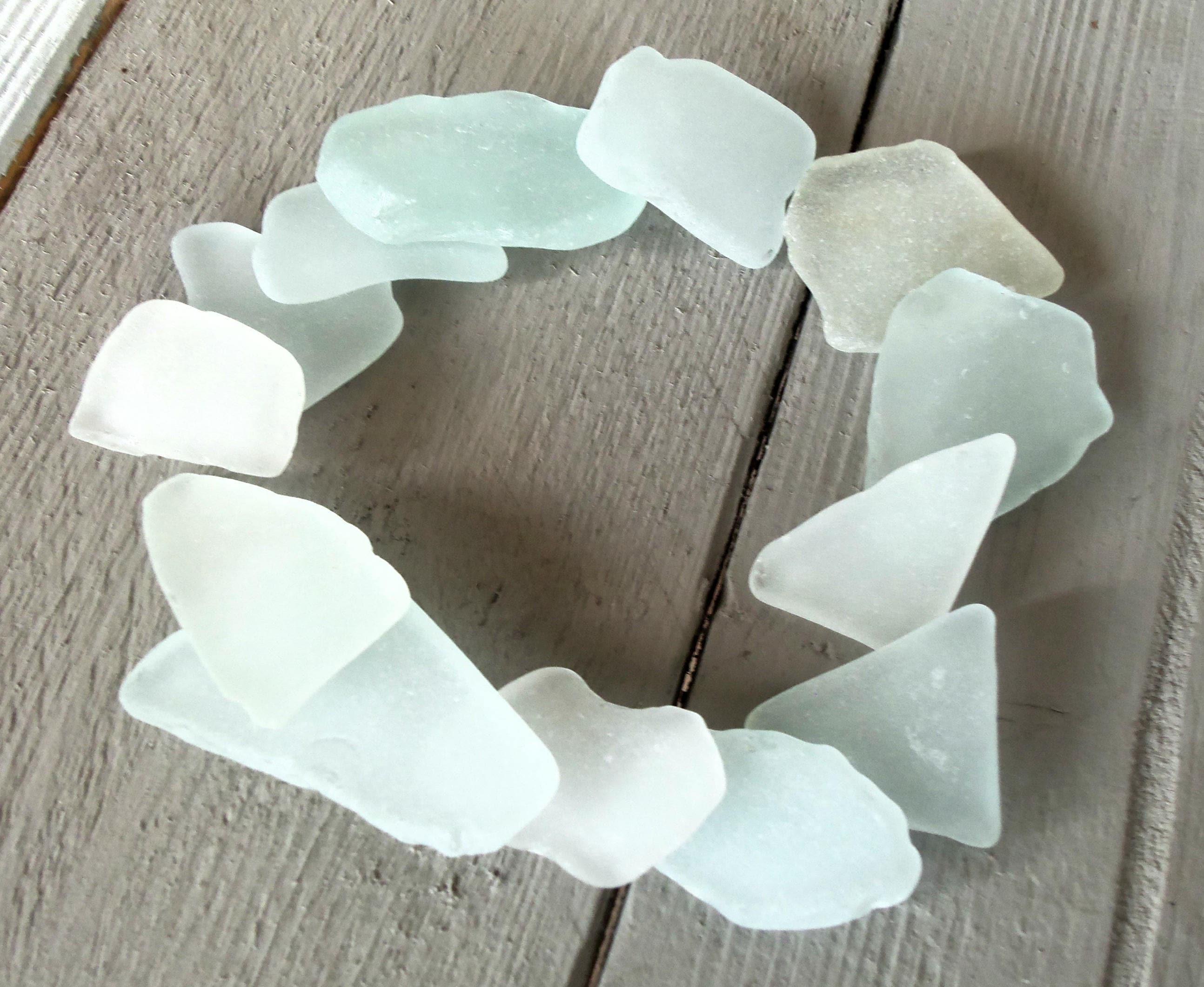 Craft beach sea glass bulk big white genuine sea glass for Craft mosaic tiles bulk