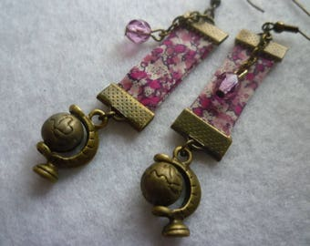 Earrings turns the Earth pink