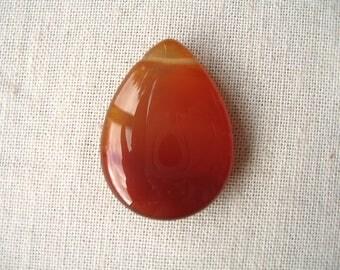 Red carnelian bead drop 22x30mm