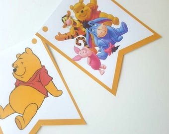 PDF: Winnie the Phooh Birthday Party Package, Winnie the Pooh Printables, Winnie the Pooh Banner, Cupcake Wrappers, Invitations - Digital