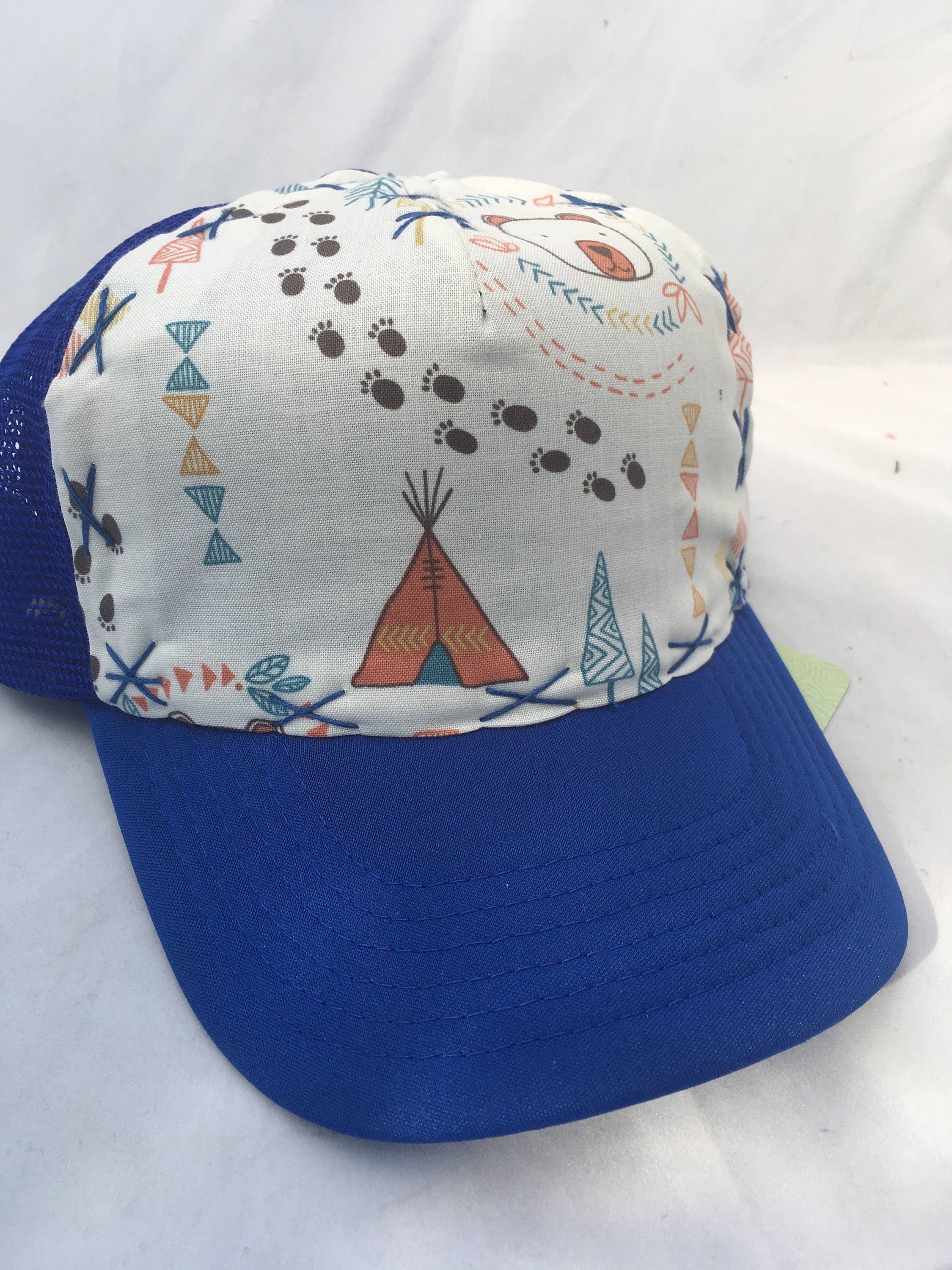 tepee time in the woods trucker hat for kids e1019094703499324m