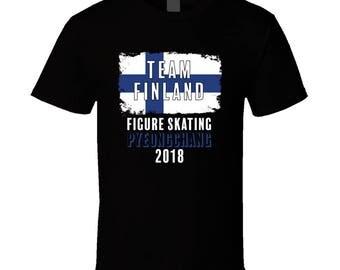 Team Finland Figure Skating Pyeongchang 2018 Olympic T Shirt
