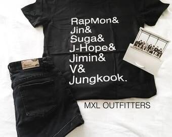 BTS names T-Shirt