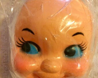 Blue Eyed Doll Face for Doll Making   Doll Parts