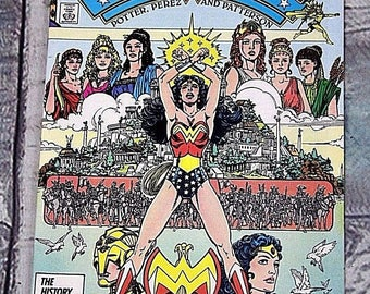 Wonder Woman Comic Book DC Comic Vintage Retro #1