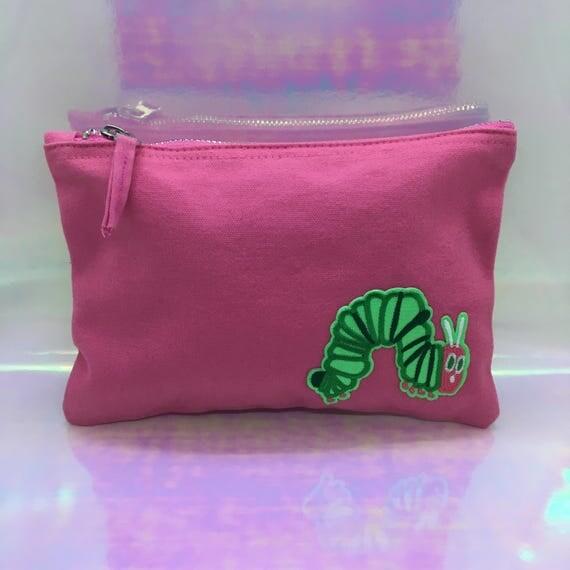 Pink Hungry Caterpillar Make Up Bag