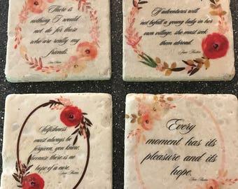 Jane Austen Coaster Set
