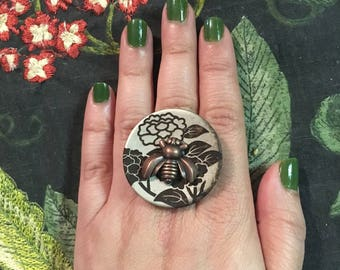 Bugs and Buttons Ring