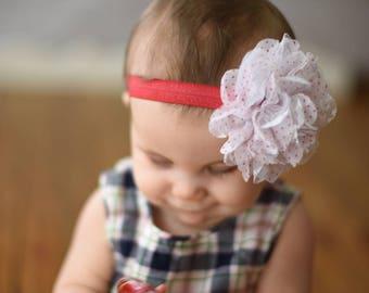 Valentine's Day Headband, Red Baby Headband, Red Headband, Newborn Headband, Baby Headband, Baby Girl Headband, Holiday Headband, Red Bows